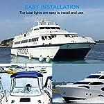 OurLeeme-Luci-di-Navigazione-per-Barche-2-Pezzi-12V-Green-e-Red-Marine-Boat-Yacht-15-LED-Super-Bright-Segnale-Luminoso-per-Yacht-Yacht-Skeeter