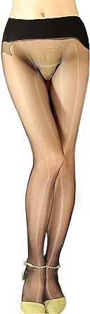 HTRUIYATY Collant lucidi olio da Donna Sexy Collant donna 5 denari a 360 ° Senza Cuciture Calze per Modellare