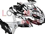 LoveMoto Verkleidung für GSX-R600 GSX-R750 K8 2008 2009 2010 08 09 10 GSXR 600 750 ABS Spritzguss Kunststoff-Motorradverkleidung-Sets Schwarz Weiß