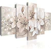 murando - Cuadro en Lienzo 200x100 cm - Flores - Impresion en calidad fotografica - Cuadro en lienzo tejido-no tejido - b-A-0297-b-n