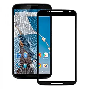 Displayglas Front Display Glas Schwarz für Motorola Google Nexus 6 Reparatur SET Hochwertig + Opening KIT TOOL Werkszeug Neu New Angebot Zubehör Aktion Günstig