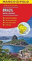 Brazil, Bolivia, Paraguay, Uruguay Marco Polo Map (Marco Polo Maps)