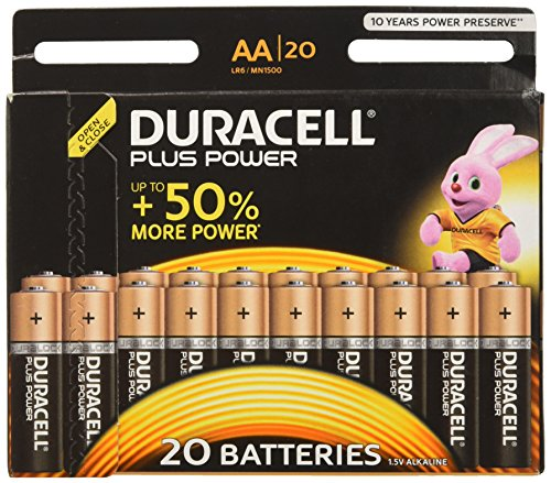 Duracell Plus Power Alkaline Batterien AA (MN1500/LR6) 15+5 Special Offer Pack (Aa-alkali-batterie)