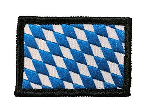 Café Viereck  Bundesland Patch Bayern Flagge Gestickt mit Klett - 6 cm x 4 cm