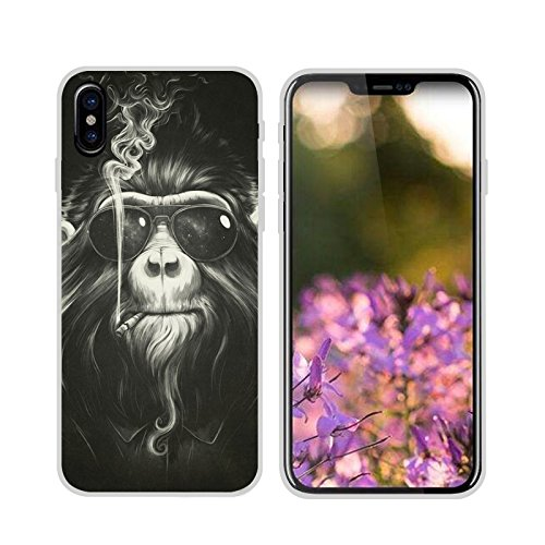 Easbuy Handy Hülle Soft Silikon Case Etui Tasche für iPhone 8 Smartphone Cover Handytasche Handyhülle Schutzhülle Mode 10