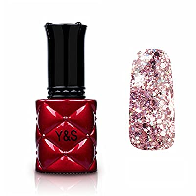 Y&S Glitter Gel Nail Polish Soak Off UV LED Gel Nail Polish Nail Lacquer 8ml
