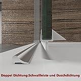 Dusche Duschkabine Duschabtrennung 120x195cm Duschtür Duschwand aus Sicherheitsglas mit Seitenwand 90x195cm Vergleich