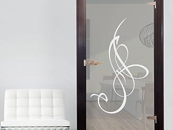 Glasdekor Glastür Aufkleber Fensterfolie Für Wohnzimmer Ornamente - Wohnzimmer glastur