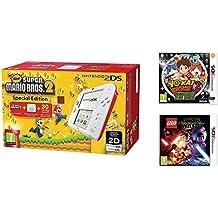 Consola Nintendo 2DS Roja + New Super Mario Bros 2 + Yo-Kai Watch 2: Fantasqueletos + LEGO Star Wars: El Despertar De La Fuerza