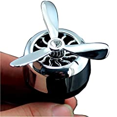 Idea Regalo - AIR FORCE 3 Profumatore Deodorante per Auto Ricaricabile Diffusore di Profumo Automatico Senza Alcool. Adatto perAromaterapia, Rimuove Fumo e Odori Ottima idea regalo (argento)