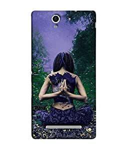 PrintVisa Designer Back Case Cover for Sony Xperia C3 Dual :: Sony Xperia C3 Dual D2502 (Abstract Illustration Modern Art Color Decoration Trees Grass)