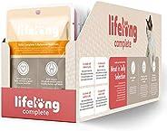 Marchio Amazon - Lifelong Alimento completo per gatti adulti- Selezione di carne in in gelatina 2,4 kg (24 sac