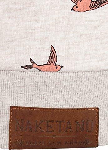 Naketano Female Zipped Jacket Wuppi Puppi Oma Melange