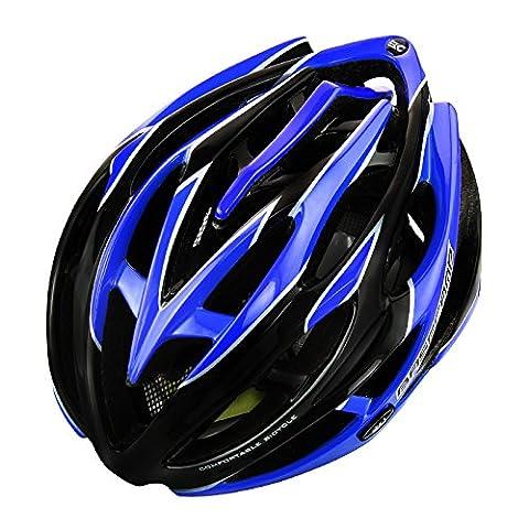 250g Ultra léger - casque de vélo de qualité supérieure de qualité Airflow spécialisé pour le vélo de route et de montagne - casques certifiés de sécurité pour les hommes et les femmes adultes, garçons et filles adolescents - confortable, léger, respirant la protection de la sécurité ( Color : Black and blue )