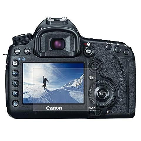 Puluz Camera 2.5d incurvé 9H Dureté de la surface protection d'écran en verre trempé pour Canon 5d Mark