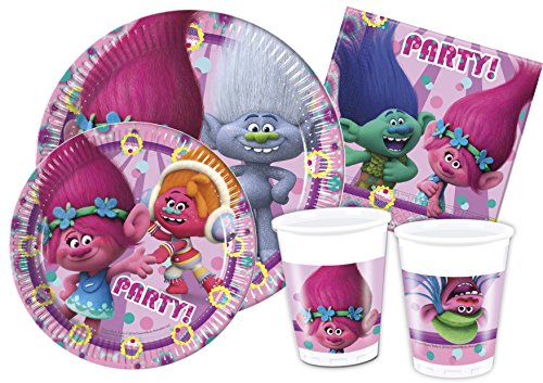 Ciao y4326 – Kit fête de Table Trolls, Rose