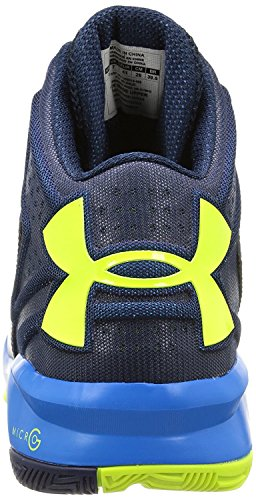 Under Armour - Torch, Scarpe da Basket Uomo Academy/High-Vis Yellow/BLUE JET