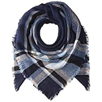 Ancia Women Tartan Scarf Stole Plaid Blanket Checked Scarves Wraps Shawl - - X-Large