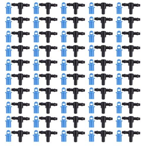 MagiDeal Satz Von 50 Sprayer Sprinklerköpfe Düse Mit T-Shirt Kits Für Tropfbewässerung