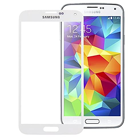 Frontglas Austausch Ersatz Front Glas Glass für Samsung Galaxy S5 i9600 Displayglas Screen + Werkzeug Weiß
