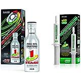 XADO Set de Aceite para Motor, aditivo + Caja de Cambios de Engranaje aditivo contra