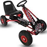 Kiddo Racer Design Red Kids Childrens Pedal Go-Kart Ride-On Car, Adjustable Seat, Rubber Tyres - Suitable For 4 to 8 Years - New