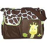 Yacool® Multifuncional bebé pañal pañales cambio de patrón de bolso de la momia bolso jirafa (verde)