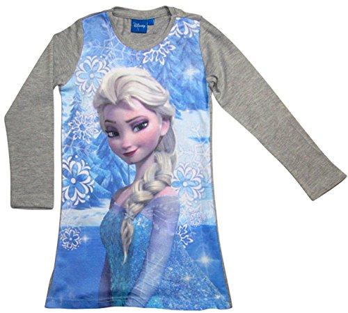 Frozen Kollektion 2017 Nachthemd Die Eiskönigin 98 104 110 116 122 128 134 Nachtkleid Nachtrobe Disney ELSA (122-128; Prime, Grau)
