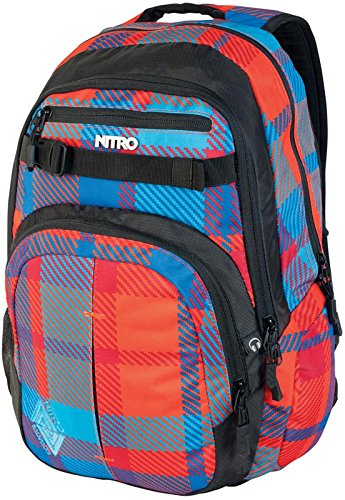 Nitro Rucksack Chase, plaid red-blue, 51 x 37 x 23 cm, 35 Litre, 878014 (Plaid-damen-laptop-tasche)