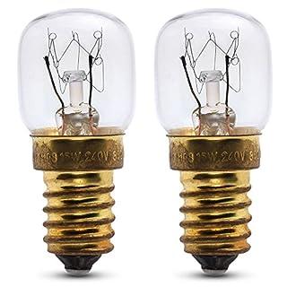 2 x 15w Ofenlampe für den Gebrauch in einem Amica Ofen. 240v. 300° Hitzebeständig. SES (E14) Kleiner Edison Sockel Ofenbirne