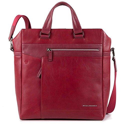 Piquadro Cary, Borsa a Mano Unisex-Adulto, 15.5 x 36.5 x 33.5 cm (W x H x L) Rosso