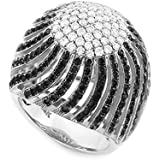 Little Treasures - 18 ct White Gold Diamond Pave Cocktail Dome Ring