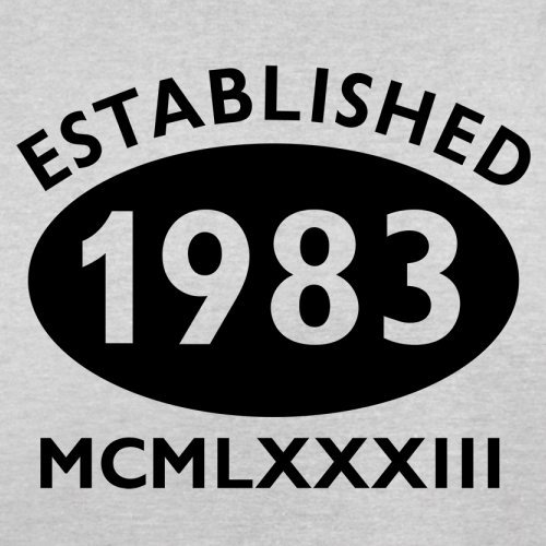 Gegründet 1983 Römische Ziffern - 34 Geburtstag - Herren T-Shirt - 13 Farben Hellgrau