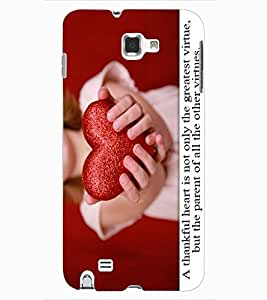 ColourCraft Love Quote with Image Design Back Case Cover for SAMSUNG GALAXY NOTE 1