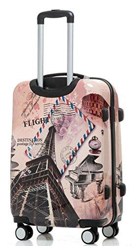 Reise Koffer Trolley mit Polycarbonat ABS Hartschale und Motiv BB (4: 115 Liter - Gr. XL, Eiffelturm) - 3