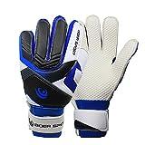 Sue Suply 1 Paar Torwarthandschuhe/Tormannhandschuhe/Fußballhandschuhe mit Verschiedene Größen 9# Jugendliche Kinder-Blau