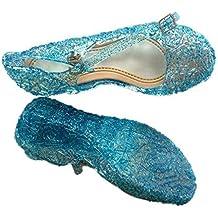 URAQT Zapatos de la Princesa Sandalias infantil de Disfraz de Princesa de Niñas para Fiesta Carnaval Cumpleaños Cosplay