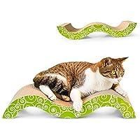 Odfbgfj Mordaza antidesgaste Resistente al Desgaste del sacacorchos del Papel del Animal doméstico del Juguete del Animal doméstico de la Placa del rasguño del Gato bajo en Forma de M