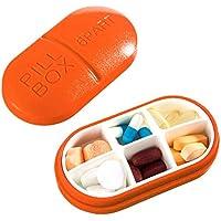Reise Pill Box Vitamine Medizin Tablet Veranstalter Fall 6 Fächer Lagerung für Reise Reise Reise (Orange) preisvergleich bei billige-tabletten.eu