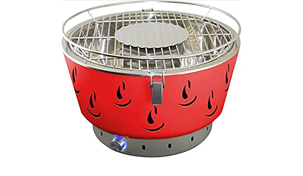 Berndes Rauchfreier Holzkohlegrill : Activa grill tischgrill airbroil rot holzkohlegrill: amazon.de