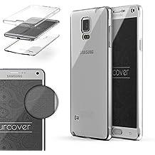 Urcover® Samsung Galaxy Note 4 | Funda Carcasa Protectora 360 Grados | TPU en Transparente | Protección Completa Case Cover Smartphone Móvil Accesorio