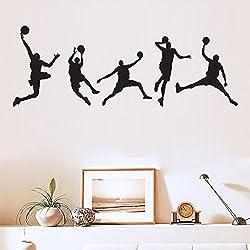 Fútbol Baloncesto Adhesivo decorativo para pared para niños habitación decoración