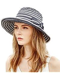 cc4c13f95c6 Siggi Ladies Bucket Summer Sun Hat Foldable Beach Cap Wide Brim UPF50+  Packable for Women