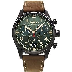 Alpina Geneve Startimer Pilot AL-372GR4FBS6 Cronógrafo para hombres Reloj Aeronóautico