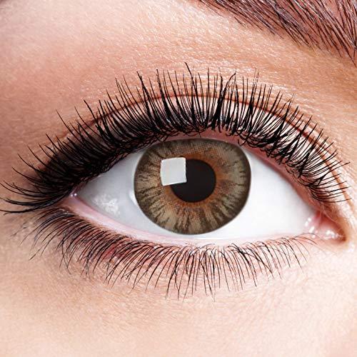 Farbige Kontaktlinsen Grau Motivlinsen Ohne Stärke mit Motiv Graue Linsen Halloween Karneval Fasching Cosplay Anime Kostüm Grey Big Eyes Dolly Puppe