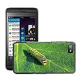 Sólo del estilo celular rígida caliente funda // M00138235 Caterpillar hoja verde blather // BlackBerry Z10