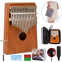 Kalimba 17 Key Finger Piano Marib Mahagoni mit gepolsterter Gigbag Stimmgerät Hammer von Kmise