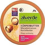 Macadamia di Alverde e burro del corpo di karite - per tutti i tipi di pelle incluso pelle secca e sensibile - Ingredienti organici certificati / Vegano 200ml