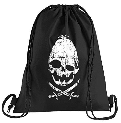 Fratelli Restaurant Head Fun Data Goonies Piraten Bones Sportbeutel - Bedruckter Beutel - Eine schöne Sport-Tasche Beutel mit Kordeln ()