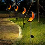 Gartenleuchte Solar Mond Leuchte Wegeleuchte mit Erdspieß Außen Beleuchtung Dekoration für Garten 1 PCS